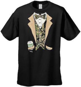 Redneck Camouflage Tuxedo T-Shirt
