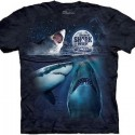 3 Sharks And The Moon Shark Week T-Shirt