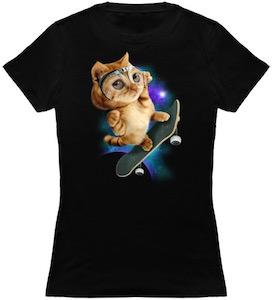 Skateboard Cat T-Shirt