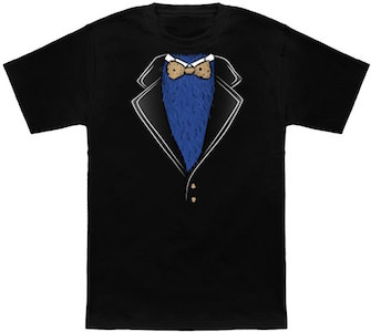 Cookie Monster Tuxedo T-Shirt