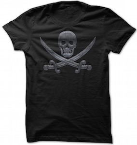 Metal Jolly Roger Pirate T-Shirt