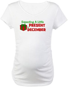 Expecting Baby Present In December T-Shirt