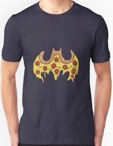 Batman Pizza Logo T-Shirt