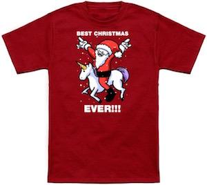 Unicorn Best Christmas Ever T-Shirt