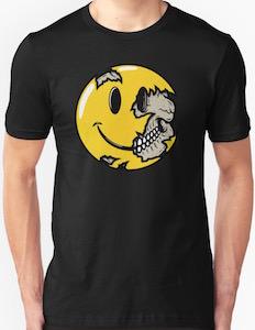 Smiley Showing His SkullT-Shirt
