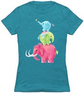 Stack Of Elephants T-Shirt