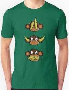 Monkey See No Evil, Hear No Evil, Speak No Evil T-Shirt