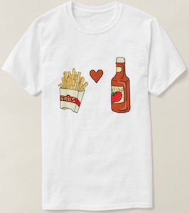 Fries Love Ketchup T-Shirt