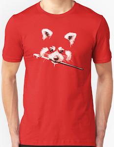 Red Panda Painting T-Shirt