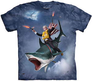George W Bush On A Shark T-Shirt