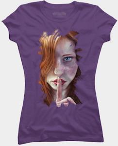 Shhh Portrait T-Shirt