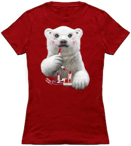 Lipstick Wearing Polar Bear T-Shirt