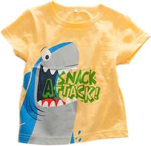 Snack Attack Kids Shark T-Shirt