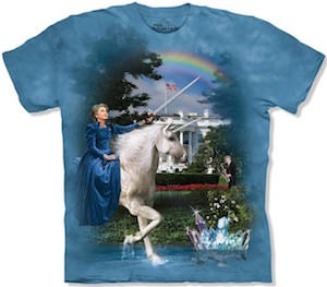 Hillary Clinton The White House And A Unicorn T-Shirt