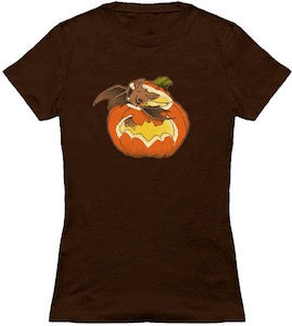 Bat Crawling Out Of A Pumpkin T-Shirt