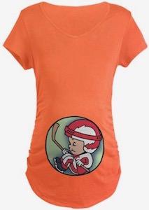 Hockey Player Inside Maternity T-Shirt