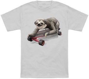 Skateboarding Sloth T-Shirt