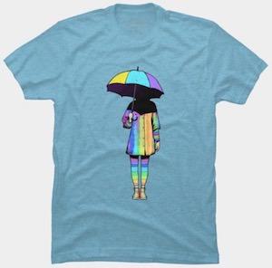 Girl And Her Umbrella T-Shirt