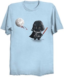 Child Darth Vader And His Death Star Balloon