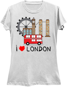 I Love London Tourist T-Shirt