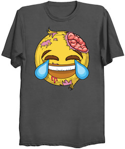 Laughing Zombie Emoji T-Shirt