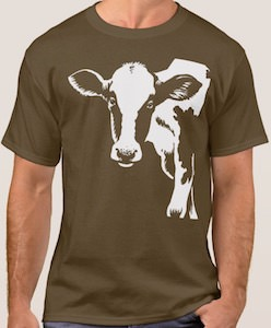 Cow Looking Into The World T-Shirt