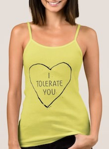 women's I Tolerate You Tank Top