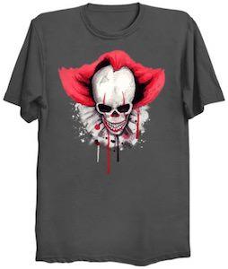 Scary Clown Skull T-Shirt
