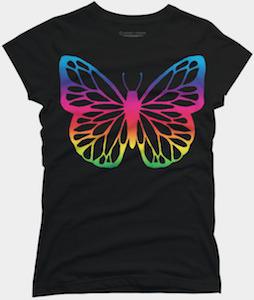 Neon Butterfly T-Shirt