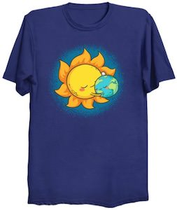 Sun And Planet Earth T-Shirt