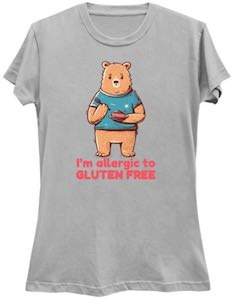 Allergic To Gluten Free Bear T-Shirt