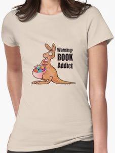 Book Addict Kangaroo T-Shirt