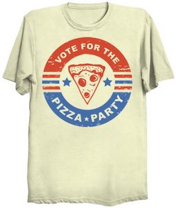 Vote For The Pizza Party T-Shirt