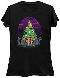 Halloween Christmas Tree T-Shirt