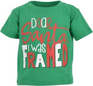 Kids Dear Santa I Was Framed T Shirt Mustgetshirt