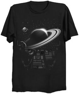 Flying To Saturn T-Shirt
