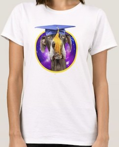 Dog Wearing Graduation Hat T-Shirt
