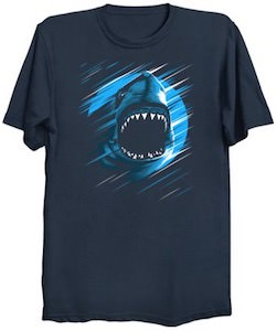 Shark In The Moonlight T-Shirt