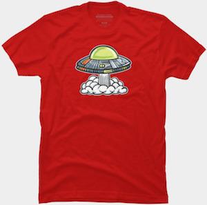 UFO Is Leaving T-Shirt