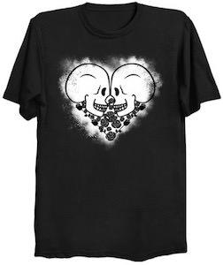 Skull Love Heart T-Shirt