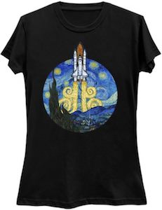 Starry Night Space Shuttle T-Shirt
