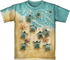 Baby Turtles Going To Sea T-Shirt