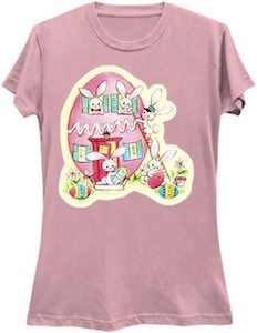 Bunnies In Their Easter Egg Home T-Shirt