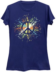 Paint Splatter Peace Sign T-Shirt