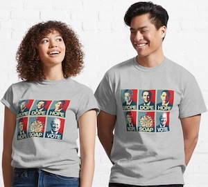 Grope Dope Hope Nope Soap Vote T-Shirt