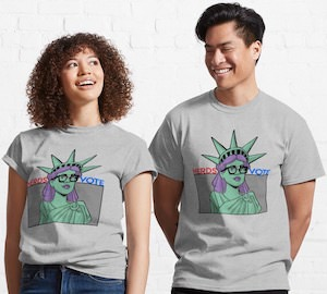 Nerdy Liberty Votes T-Shirt