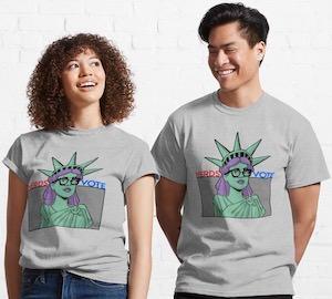 Nerdy Liberty Votes T-Shirt
